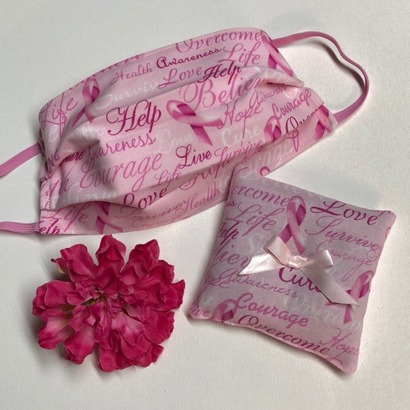 Kellybean Crafties Accessories Breast Cancer Awareness Face Mask Poshmark
